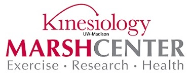 Marsh Center banner with Kinesiology Dept. logo